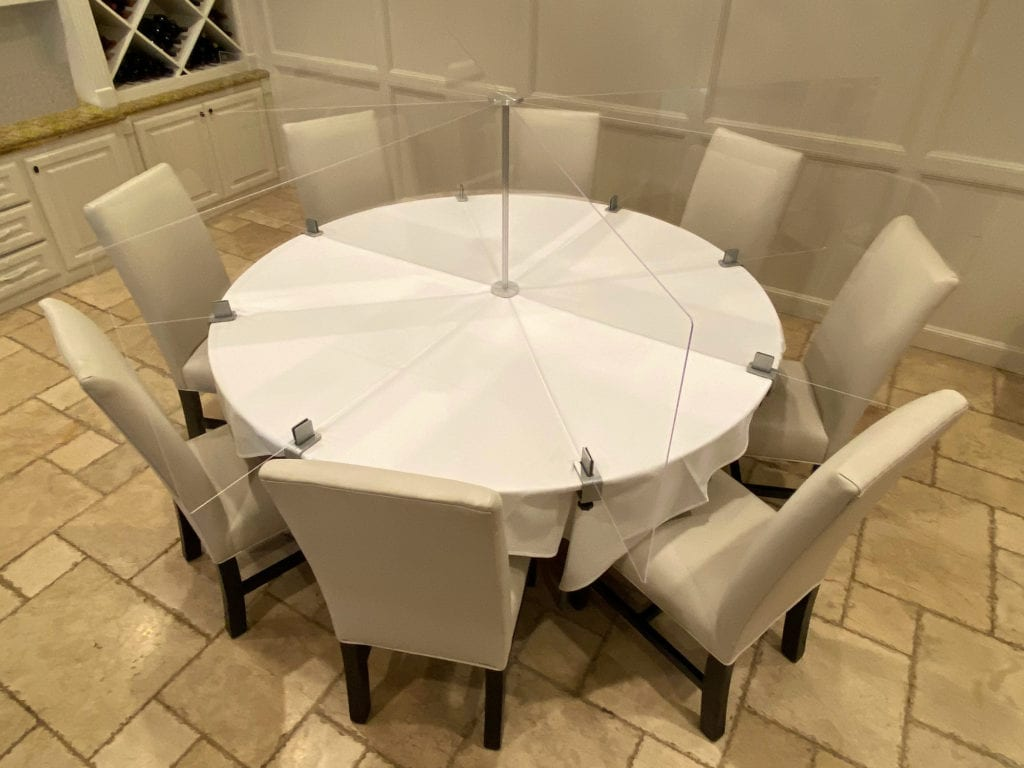 Smart Spacer® Table Divider - 8 Person 72 Inch Round Table
